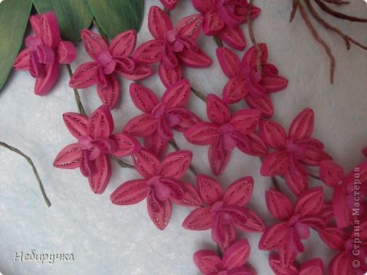 """Вот такая малиновая орхидея получилась в процессе """"мучения"""" работы с курсов. Мучила я работу, а не она меня. )))) фото 2"""