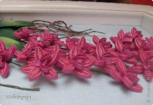 """Вот такая малиновая орхидея получилась в процессе """"мучения"""" работы с курсов. Мучила я работу, а не она меня. )))) фото 3"""