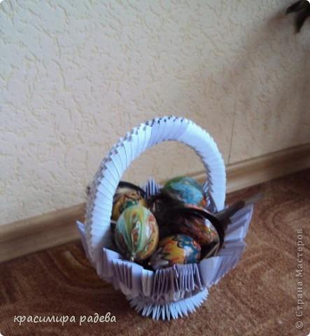 Хареса ми кошничката  по МК на Галина Тихова и реших да опитам да си направя и аз. Ето я моята. фото 3