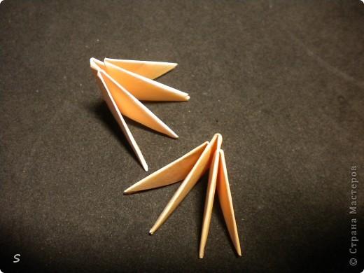 Вот такого маленького красавца мы сейчас будет делать.  Шаг 1: Заготовка. Для этого бумажного скорпиона нам понадобятся 77 модулей 3*4,5 см. Если делать из больших модулей - эффект живого скорпиона не будет достигнут, т.к. чешуйки буду очень большими и неестественными. Модули можно изготовить по данной схеме http://stranamasterov.ru/technic/origami_module?tid=451 . фото 5