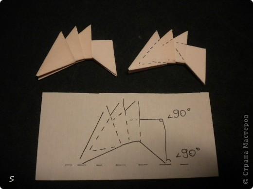 Вот такого маленького красавца мы сейчас будет делать.  Шаг 1: Заготовка. Для этого бумажного скорпиона нам понадобятся 77 модулей 3*4,5 см. Если делать из больших модулей - эффект живого скорпиона не будет достигнут, т.к. чешуйки буду очень большими и неестественными. Модули можно изготовить по данной схеме http://stranamasterov.ru/technic/origami_module?tid=451 . фото 8