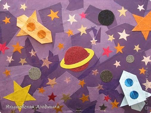 Вот такую ракету в технике оригами можно сделать как элемент композиции на космическую тему. фото 24