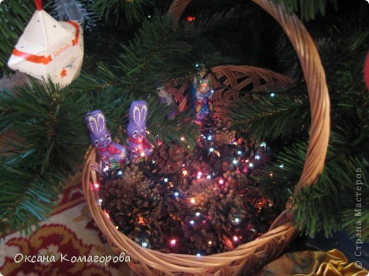 Декор предметов Поделка изделие Новый год Новогодний домик Клей Ленты Пенопласт Продукты пищевые Скотч Шишки фото 6