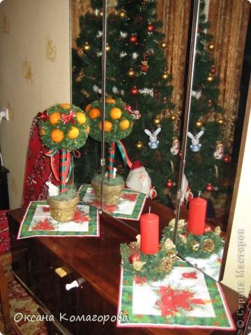 Декор предметов Поделка изделие Новый год Новогодний домик Клей Ленты Пенопласт Продукты пищевые Скотч Шишки фото 3