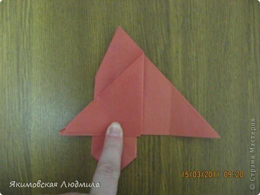 Вот такую ракету в технике оригами можно сделать как элемент композиции на космическую тему. фото 15