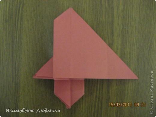 Вот такую ракету в технике оригами можно сделать как элемент композиции на космическую тему. фото 17