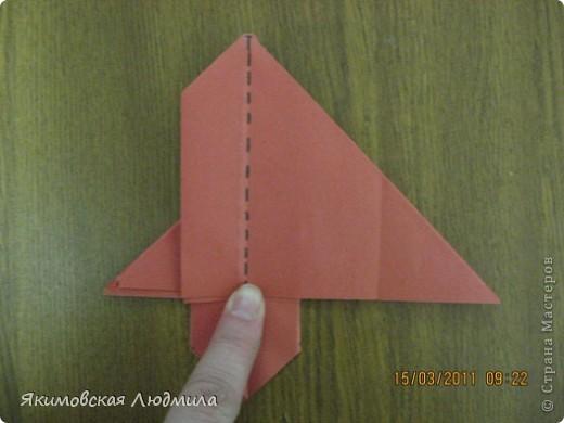 Вот такую ракету в технике оригами можно сделать как элемент композиции на космическую тему. фото 18