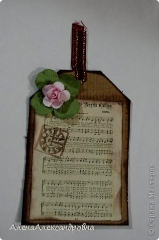 Открытка из упаковочного картона , скрап-бумаги, распечатки на фото-бумаге фото 5