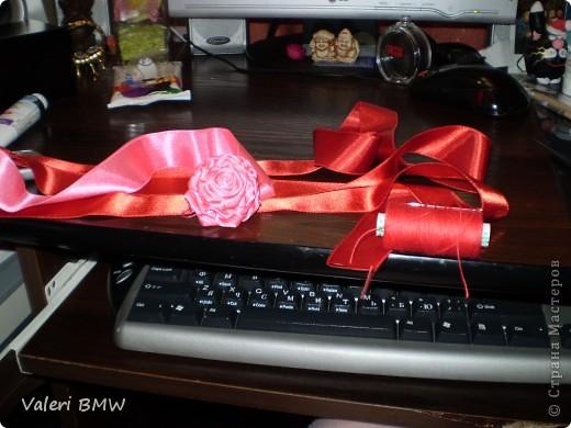 Мастер-класс МК розы из атласной ленты Ленты фото 1