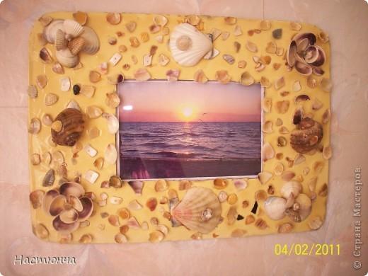 Рамочка из ракушек фото 2