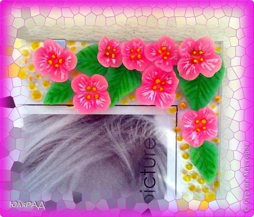 Цветочки и листики из холодного фарфора, украсила акриловыми и витражными контурами))) фото 6