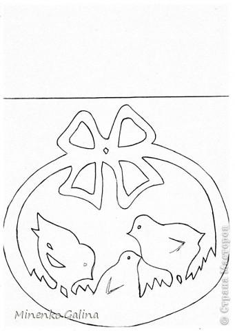 Открытка Педагогический опыт Поздравление Пасха Рождество Аппликация Вырезание Образцы работ для младших школьников к...