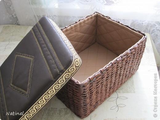 Коробочка для рукоделия из газет фото 2