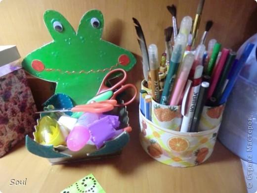 Карандашница и коробочка для мелочи