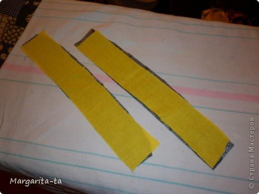 Вот такой подарочек мы с дочей решили сделать её подружке на 10 лет) Попробуем сделать вместе И так нам потребуется  1.материал хорошо держащий форму 2. отделочный,у меня чёрно-жёлто-белый,это будет у нас внутренняя часть сумочки 3.клеевая 4.ниточки иголочки Нууу и хорошее настроение))) фото 4