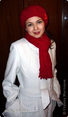 """Мой вариант берета """"Снежок""""  и воздушного шарфа (подглядела у Greza http://stranamasterov.ru/node/145170)"""