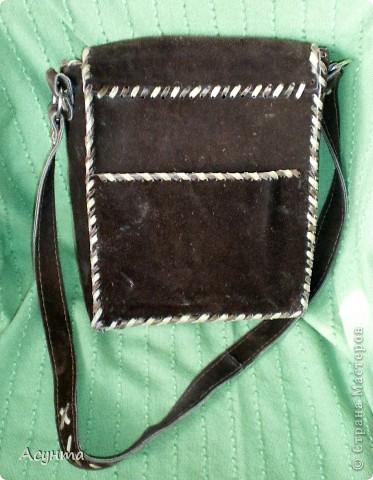 """Как-то недавно в глубинах своего гардероба нашла свои старые сумки из кожи, которые я делала ещё лет 15 назад и , как говориться, """"на коленке"""" фото 2"""