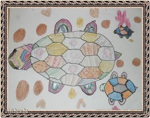 Этот вернисаж посвящен картинам моей дочери Вероники. Она посещает хужественную школу дошкольное отделение, ей очень нравиться рисовать. Надеюсь вам понравиться ее творчество... Любуемся.... Птичка певчия (фломастеры, карандаши) фото 4