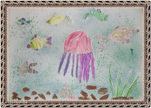 Этот вернисаж посвящен картинам моей дочери Вероники. Она посещает хужественную школу дошкольное отделение, ей очень нравиться рисовать. Надеюсь вам понравиться ее творчество... Любуемся.... Птичка певчия (фломастеры, карандаши) фото 11