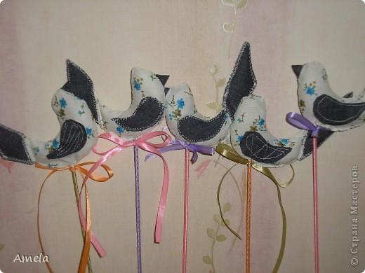 Хочу предложить Вам МК вот таких пасхальных птичек для украшения интерьера. фото 1
