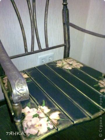 Задекупажила кованые стулья. фото 2