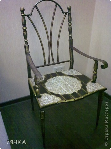 Задекупажила кованые стулья. фото 4