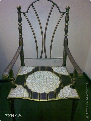 Задекупажила кованые стулья. фото 5