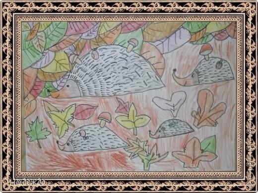 Этот вернисаж посвящен картинам моей дочери Вероники. Она посещает хужественную школу дошкольное отделение, ей очень нравиться рисовать. Надеюсь вам понравиться ее творчество... Любуемся.... Птичка певчия (фломастеры, карандаши) фото 7