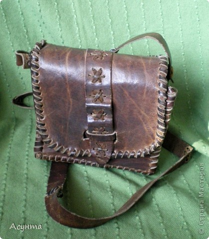 """Как-то недавно в глубинах своего гардероба нашла свои старые сумки из кожи, которые я делала ещё лет 15 назад и , как говориться, """"на коленке"""" фото 4"""