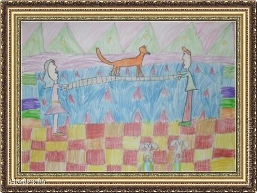 Этот вернисаж посвящен картинам моей дочери Вероники. Она посещает хужественную школу дошкольное отделение, ей очень нравиться рисовать. Надеюсь вам понравиться ее творчество... Любуемся.... Птичка певчия (фломастеры, карандаши) фото 9