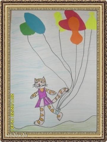 Этот вернисаж посвящен картинам моей дочери Вероники. Она посещает хужественную школу дошкольное отделение, ей очень нравиться рисовать. Надеюсь вам понравиться ее творчество... Любуемся.... Птичка певчия (фломастеры, карандаши) фото 5