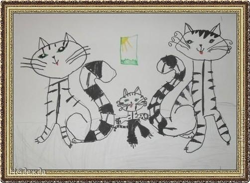 Этот вернисаж посвящен картинам моей дочери Вероники. Она посещает хужественную школу дошкольное отделение, ей очень нравиться рисовать. Надеюсь вам понравиться ее творчество... Любуемся.... Птичка певчия (фломастеры, карандаши) фото 2