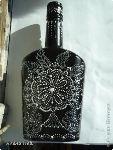 Эксперименты по росписи бутылок. фото 8