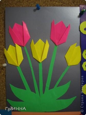 тюльпаны символ Наурыза в технике оригами делали с 3 кл. фото 1