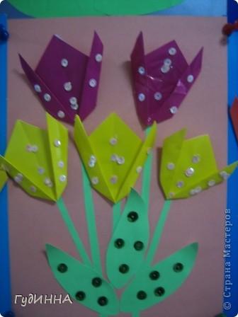 тюльпаны символ Наурыза в технике оригами делали с 3 кл. фото 3