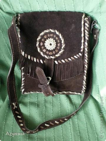 """Как-то недавно в глубинах своего гардероба нашла свои старые сумки из кожи, которые я делала ещё лет 15 назад и , как говориться, """"на коленке"""" фото 1"""