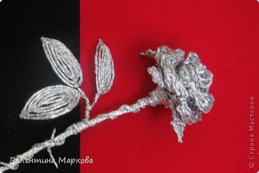 Плетение Роза из фольги