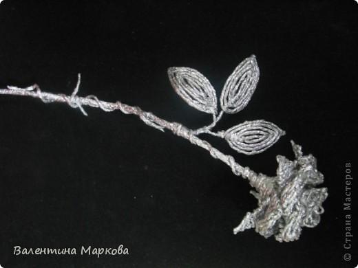 Хочу предствить на суд жителей страны мастеров свой мастер класс по изготовлению розы из фольги.  фото 41