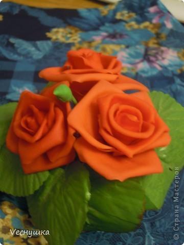 Хотела сделать зеленые розы/, но по-моему переборщила с цветом. Они какие-то не натуральные получились фото 4