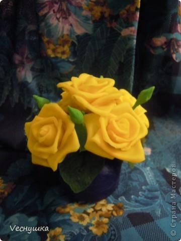 Хотела сделать зеленые розы/, но по-моему переборщила с цветом. Они какие-то не натуральные получились фото 3