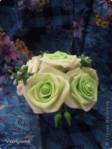 Хотела сделать зеленые розы/, но по-моему переборщила с цветом. Они какие-то не натуральные получились фото 2