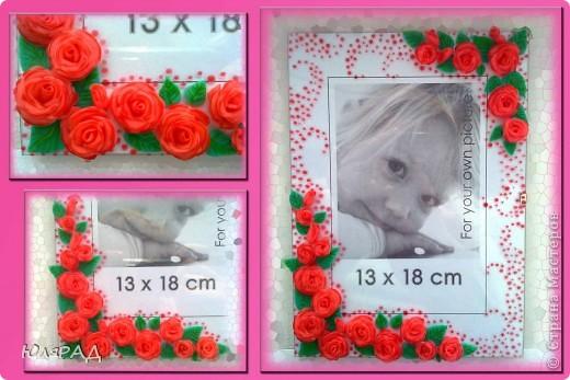 Ещё один вариант оформления))) Розы из холодного фарфора, сверху украсила их витражными красками для придания объёма. фото 1
