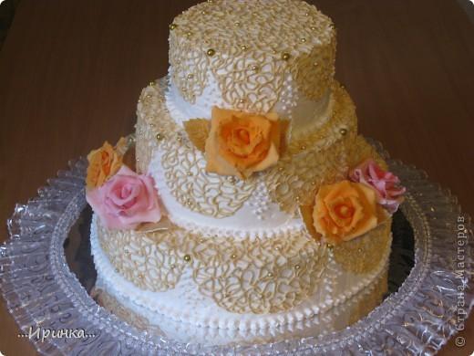 """торт """"Свадебный"""" фото 1"""