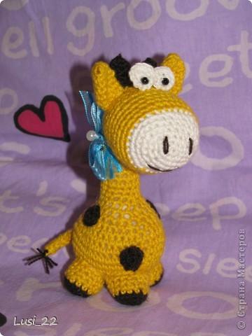 Очень понравился жирафчик у Жанны http://stranamasterov.ru/node/157654?c=favorite. Решила связать такую красотульку. фото 1