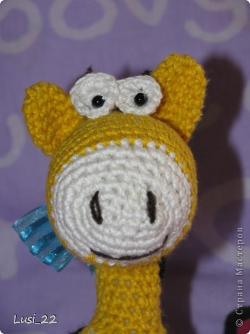 Очень понравился жирафчик у Жанны http://stranamasterov.ru/node/157654?c=favorite. Решила связать такую красотульку. фото 2
