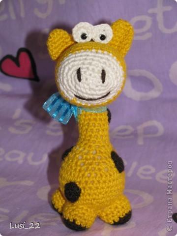 Очень понравился жирафчик у Жанны http://stranamasterov.ru/node/157654?c=favorite. Решила связать такую красотульку. фото 4