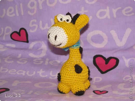 Очень понравился жирафчик у Жанны http://stranamasterov.ru/node/157654?c=favorite. Решила связать такую красотульку. фото 5