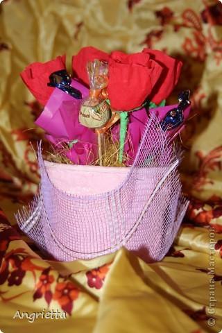конфетный букетик в подарок фото 1