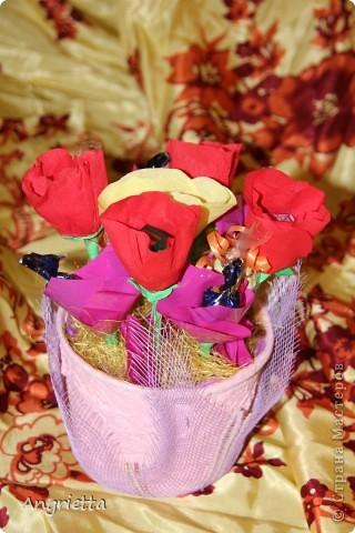 конфетный букетик в подарок фото 4