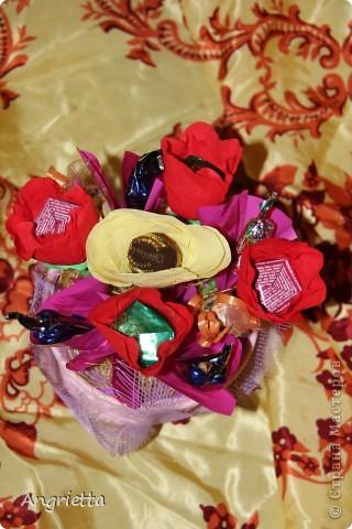 конфетный букетик в подарок фото 5
